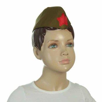 Пилотка военного детская, р-р 52 см