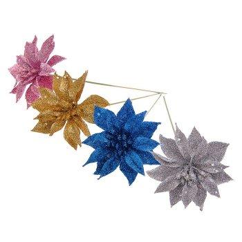 """Цветок искусственный """"Перелив"""" острый лист, микс"""