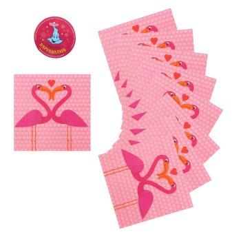 """Салфетки бумажные (набор 20 шт) """"Фламинго"""" 33*33 см"""